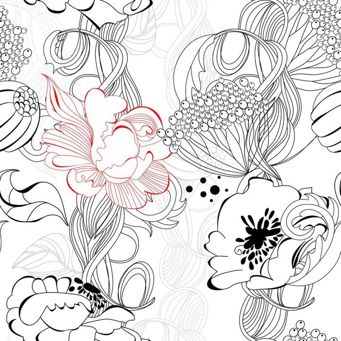 tableau sur toile floral seamless wallpaper pixers nous vivons pour changer. Black Bedroom Furniture Sets. Home Design Ideas