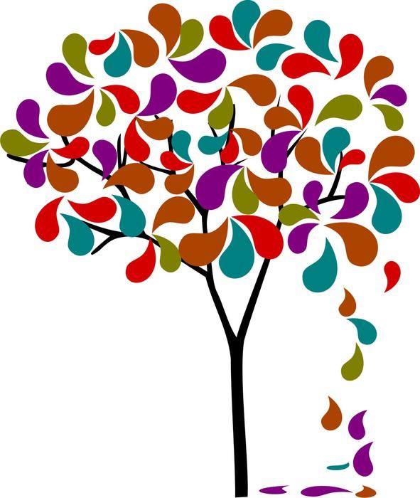 Sticker Pixerstick Teardrop arbre - Sticker mural