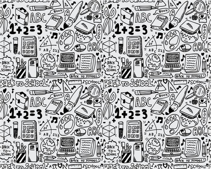 seamless school pattern Sticker - Pixerstick - Graphic Resources