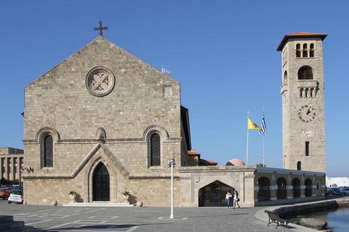 Vinylová Tapeta Evangelismos Kirche in Rhodos-Stadt - Evropa