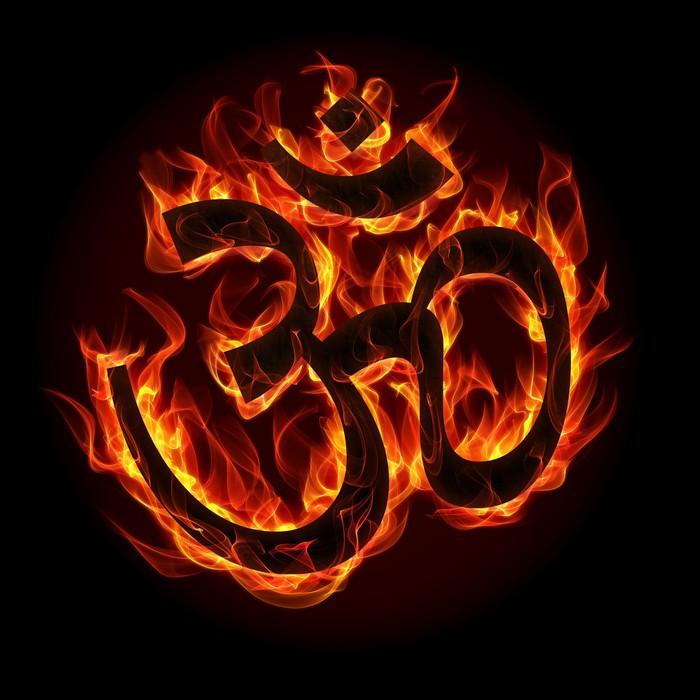Vinylová Tapeta Om přihlásit plamene a požáru - Náboženství