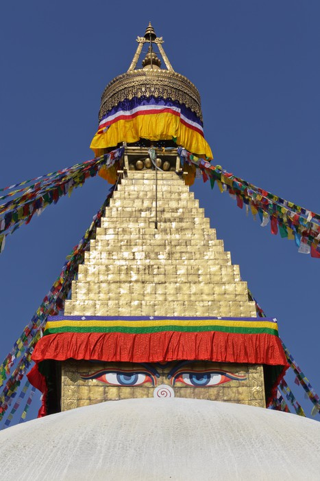 Vinylová Tapeta Bodhnath stupa v Kathmandu, Nepál. - Asie