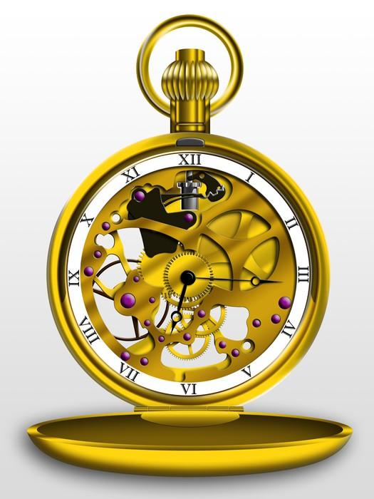 Vinylová Tapeta Steampunk kapesní hodinky - Steampunk