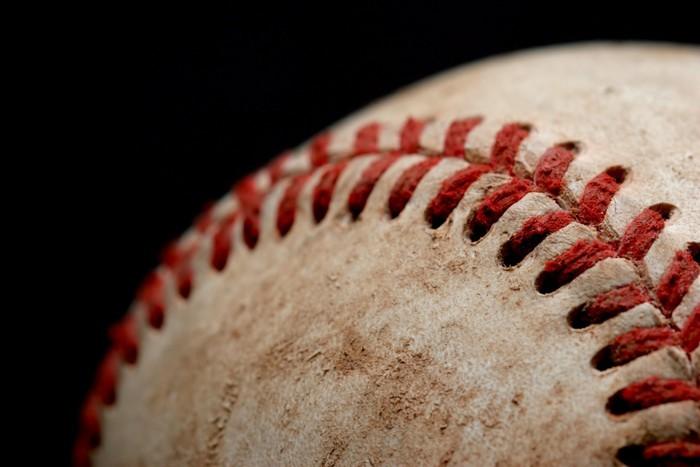 Vinylová Tapeta Baseball makro nad černou - Týmové sporty