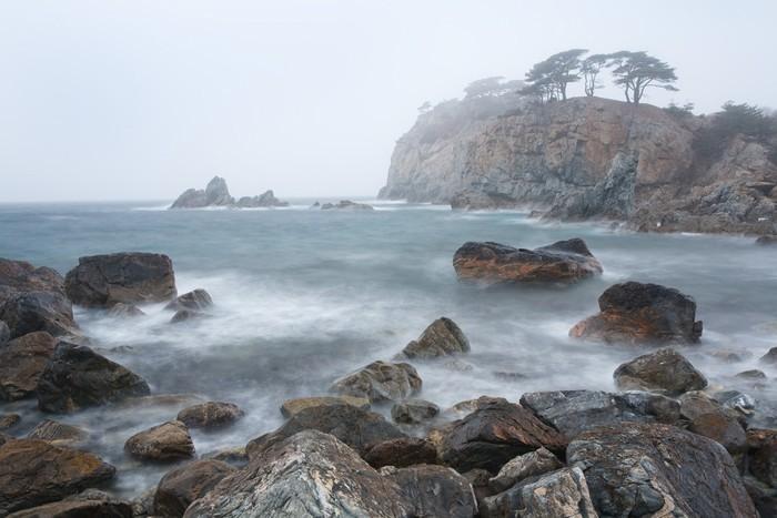 Vinylová Tapeta Chladný moře v mlze - Voda