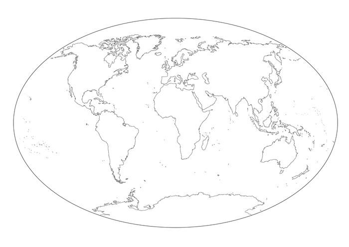 Cartina Mondo Vuota.Poster Mappa Del Mondo In Bianco E Nero Vuota Pixers Viviamo Per Il Cambiamento