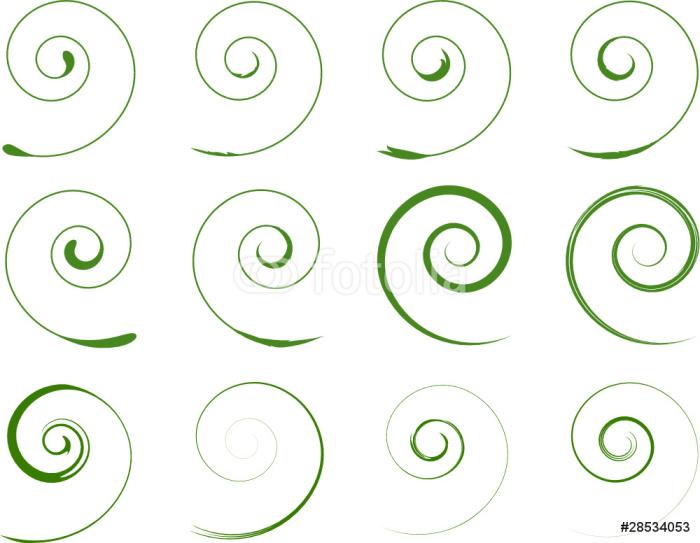 fototapete gr n floral spiralen pflanzen pixers wir leben um zu ver ndern. Black Bedroom Furniture Sets. Home Design Ideas