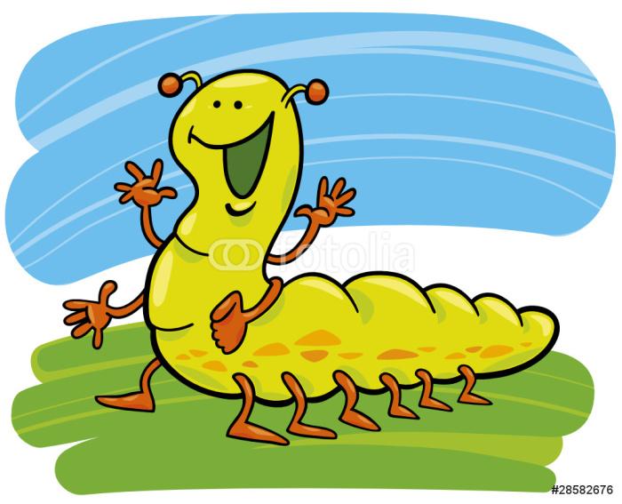 Fotomural Estndar Ilustracin de dibujos animados de la oruga