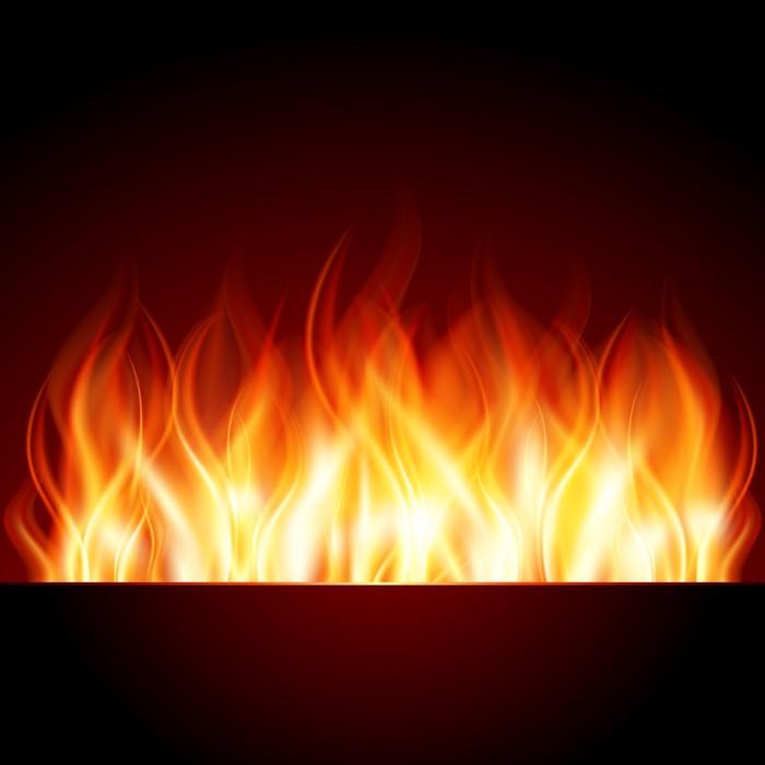Nálepka Pixerstick Hořet plamen ohně vektor pozadí - Pozadí