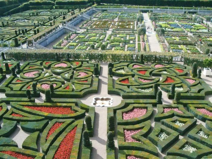 Vinylová Tapeta Vzor Villandry francouzské zahrady, Loire země, Francie - Evropa