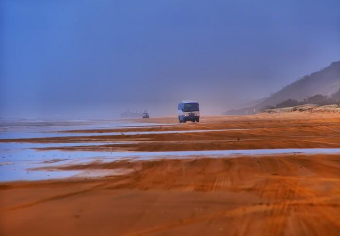 Vinylová Tapeta Rally Dakar silnice na pláži - Úspěch