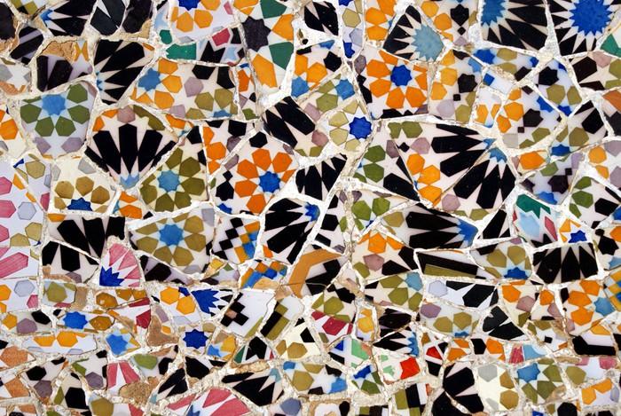Vinylová Tapeta Květinová mozaika vzor - Evropská města