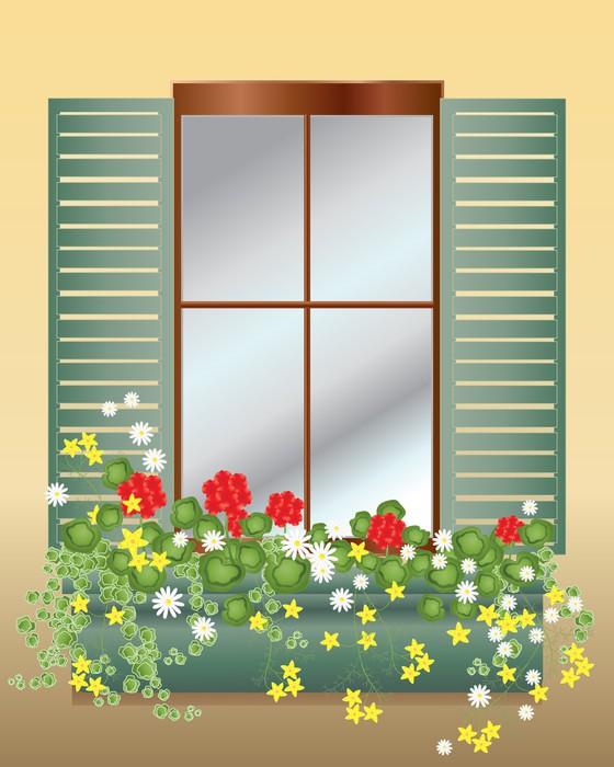 Quadro su tela scatola di finestra pixers viviamo per - Quadro finestra ...