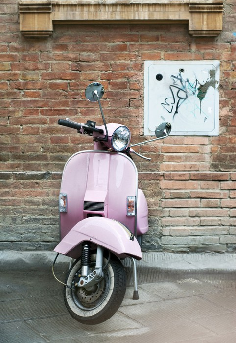 Wall Mural - Vinyl Vespa and old wall - Vespa