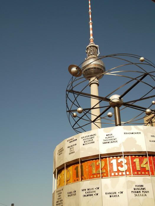 Vinylová Tapeta World Clock - Weltuhr Berlín - Evropa