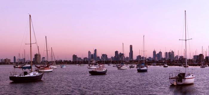 Vinylová Tapeta Melbourne Panorama - Oceánie