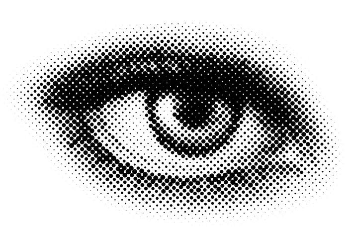 Vinylová Tapeta Vektor tečky oko - Témata