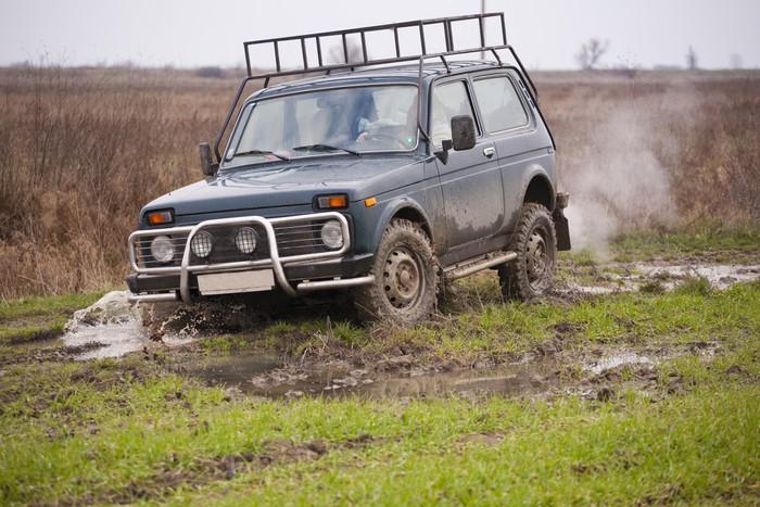 Vinylová Tapeta Jeep - Na cestě