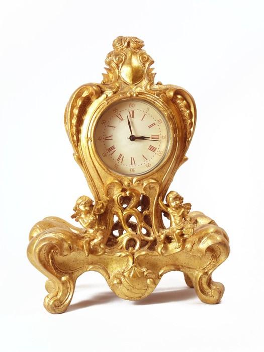 horloge baroque dorée ancienne Wall Mural • Pixers® • We live to change