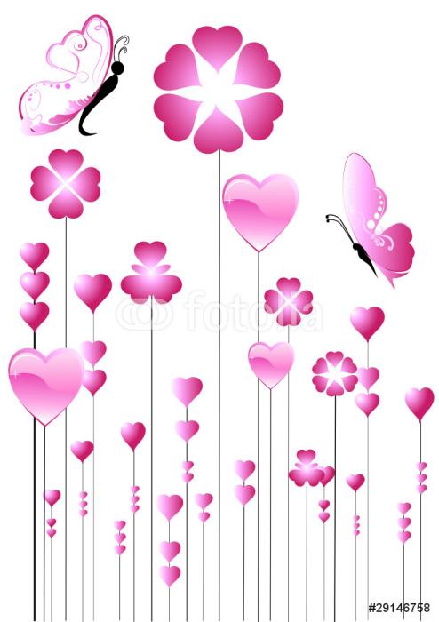 Vinylová Tapeta Květiny Hearts - Mezinárodní svátky