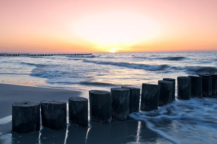Fototapeta Winylowa Zachód słońca - Woda