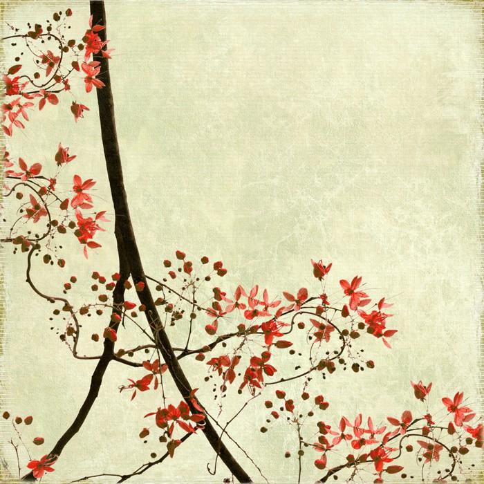 papier peint bordure de fleurs tangled sur papier antique. Black Bedroom Furniture Sets. Home Design Ideas