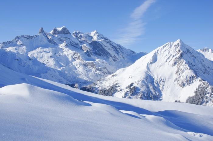 Fotobehang Winter Landschap In De Alpen Pixers 174 We