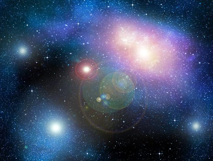 Vinylová Tapeta Hvězdnatý hluboký vesmír nebual a galaxie - Témata