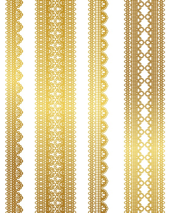 Vinylová Tapeta Zlatá speciální krajka - Surové materiály