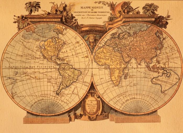papier peint ancienne carte du monde pixers nous. Black Bedroom Furniture Sets. Home Design Ideas