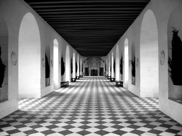 checkerboard floor Wall Mural - Vinyl - Themes