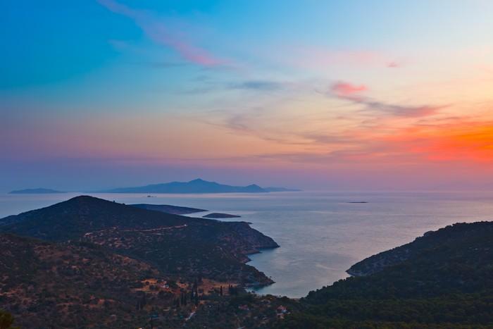 Vinylová Tapeta Řecké ostrovy před východem slunce - Nebe