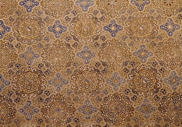 Aufkleber maurischen mosaik muster in der alhambra for Mosaik aufkleber