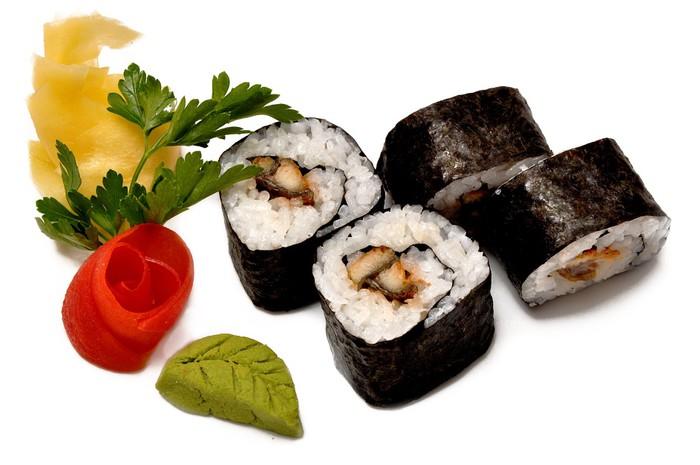 Papier peint sushis japonais l 39 anguille fum e une cuisine traditionnelle japonaise pixers - Cuisine japonaise traditionnelle ...
