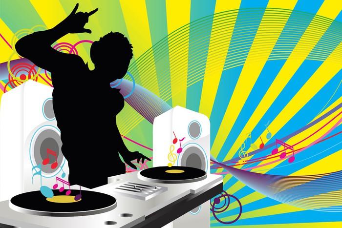 Sticker pour table et bureau music dj u pixers nous vivons pour