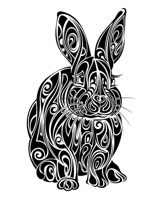 Vinylová Tapeta Králičí. tetování design - Králíci
