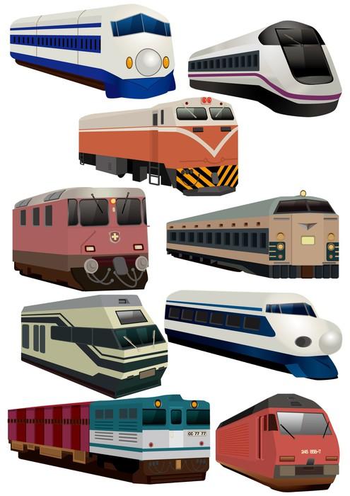 Quadro su tela icona treno cartone animato pixers