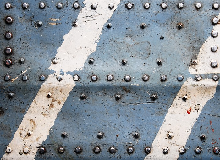 Metal Texture With Rivets Aircraft Fuselage Wall Mural