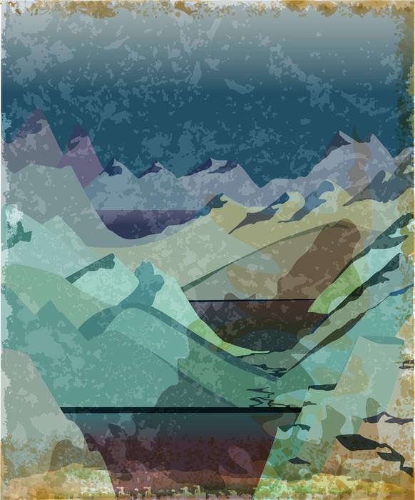 Vinylová Tapeta Norsko Fjord Landscape - Evropa