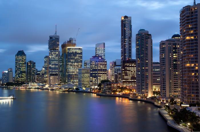 Vinylová Tapeta Brisbane panorama - Témata