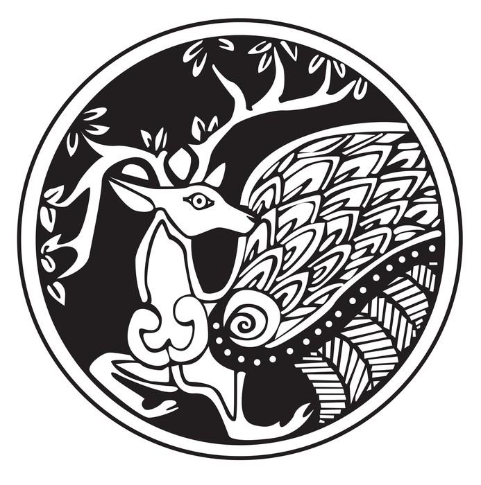 papier peint un symbole astronomique druidique d 39 un cerf pixers nous vivons pour changer. Black Bedroom Furniture Sets. Home Design Ideas