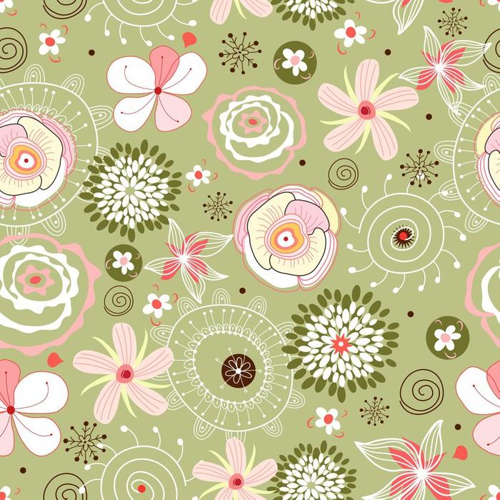Vinylová Tapeta Flower seamless pattern - Styly