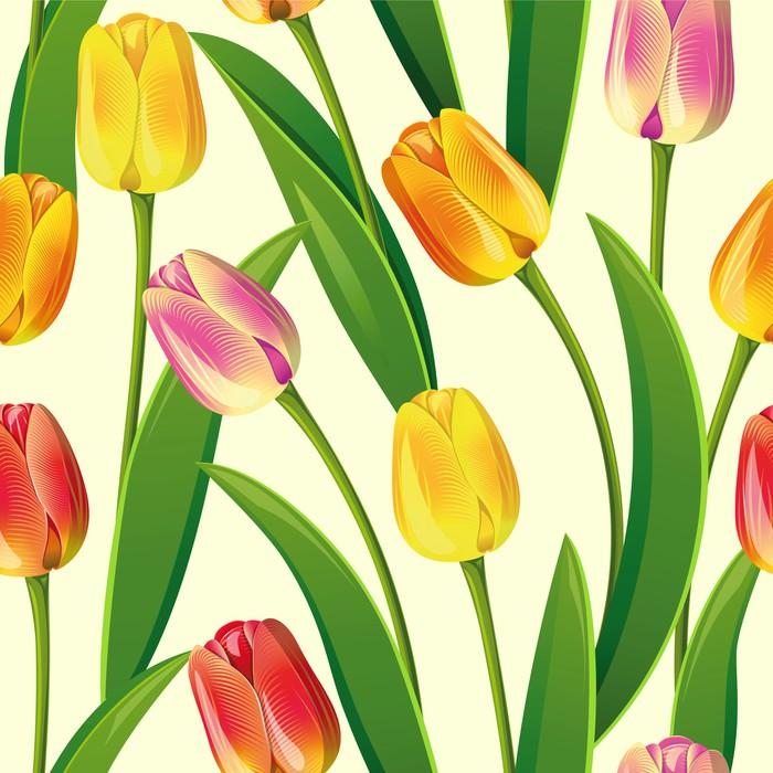 Vinylová Tapeta Bezešvé z tulipánů - Mezinárodní svátky