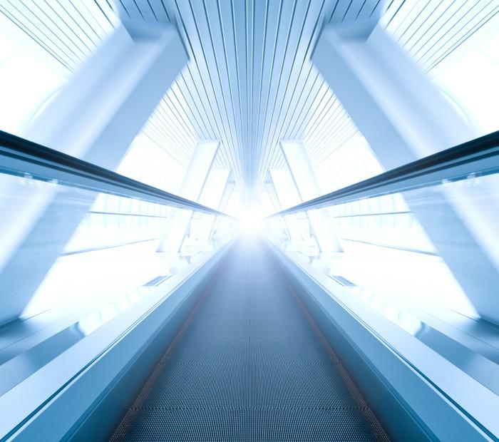 Fotomural Autoadhesivo Amplio ángulo de la escalera móvil móvil ...