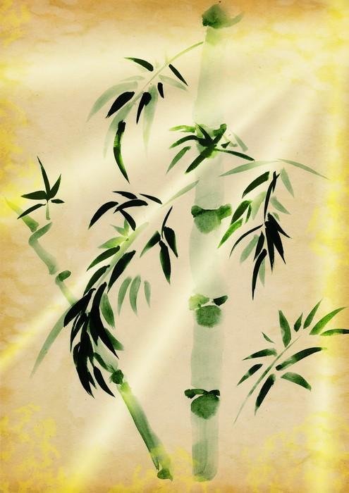 Vinylová Tapeta Green Bamboo tažené - Rostliny