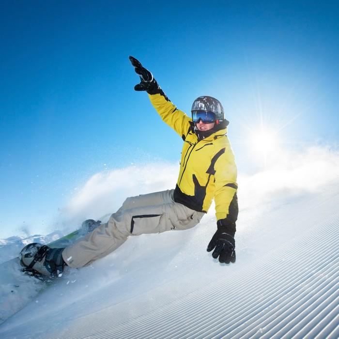 tableau sur toile freeride snowboard photo pixers nous vivons pour changer. Black Bedroom Furniture Sets. Home Design Ideas