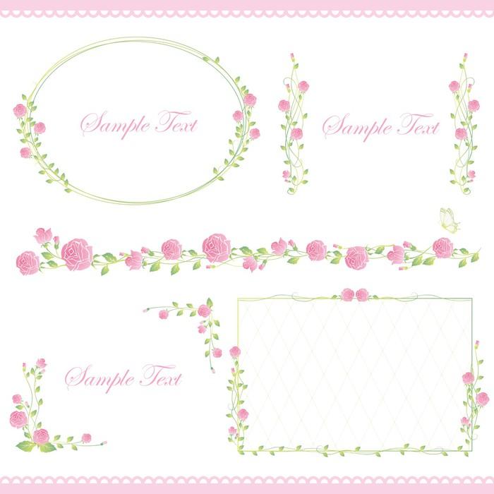 Vinilo Pixerstick Conjunto de marco rosa • Pixers® - Vivimos para ...