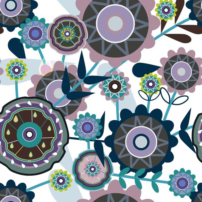 Vinylová Tapeta Květinové bezešvé textury - Roční období