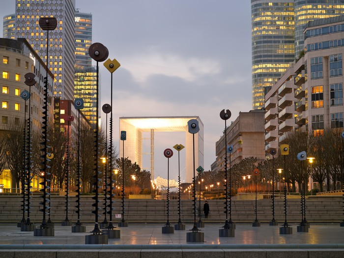 paris la defense by night wall mural pixers we live to change. Black Bedroom Furniture Sets. Home Design Ideas