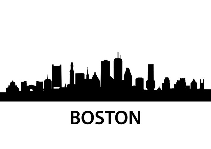 Skyline Boston Wall Mural Pixers 174 We Live To Change